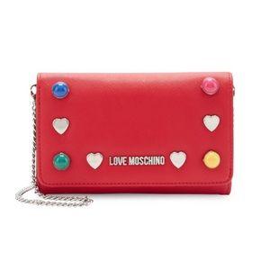 Moschino Red crossbody purse wallet